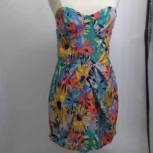 A is for Audrey strapless floral-print dress-sz S